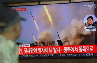 Corea del Norte lanzó dos misiles de corto alcance, según  Corea del Sur
