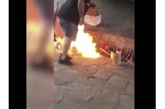 En video: En Argentina están quemando vivos a los indigentes