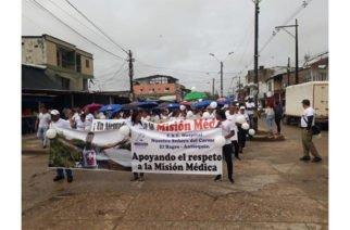 Habitantes de El Bagre Antioquia marcharon por la vida