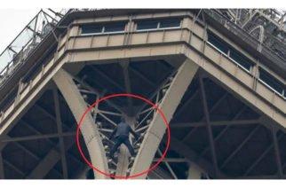 Internan en clínica psiquiátrica a hombre que trepó la Torre Eiffel