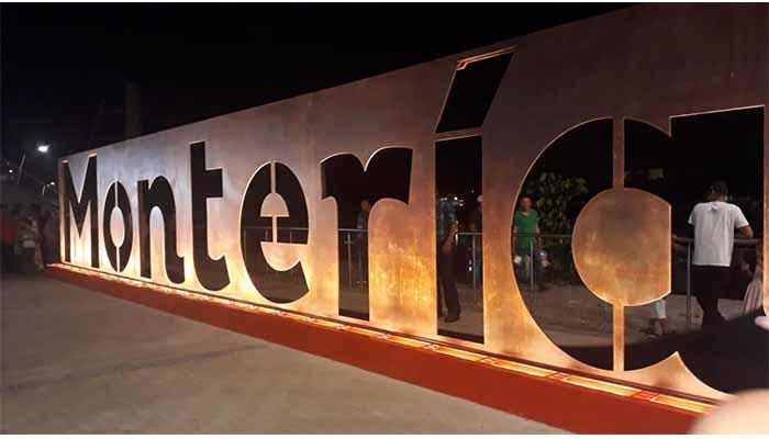 Montería ya tiene su monumento en letras gigantes (VIDEO)