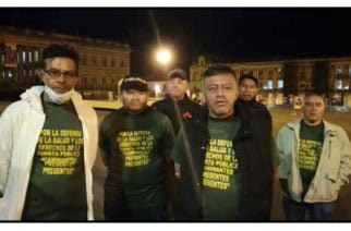 Pensionados de la fuerza pública entran en huelga de hambre