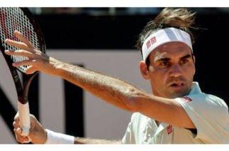 Roger Federer entrenar en la Phinippe Chatrier
