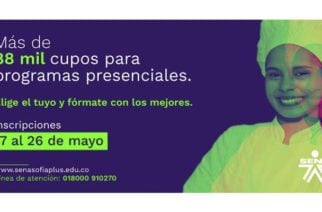 Hasta el 26 de mayo tienen plazo en San Pelayo para inscribirse en los programas de formación del SENA