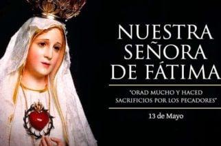 Colombia celebra hoy el Día de la Virgen de Fátima