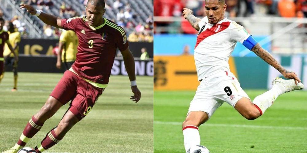 Con dos goles anulados y un 0-0 en el mercador culminó el partido Venezuela-Perú