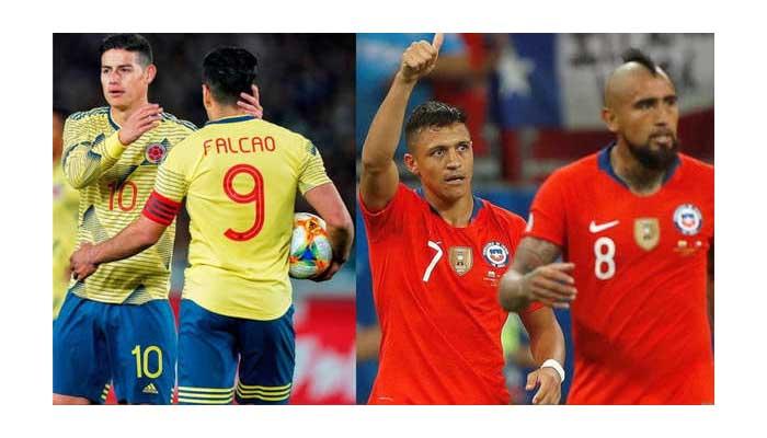 Colombia se juega ante Chile su pase a la semifinal de la Copa América