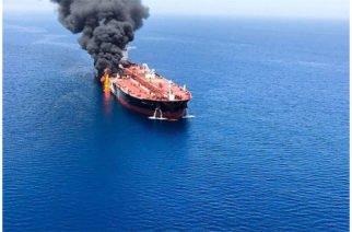 Por ataques petroleros en Golfo de Omán EE.UU acusa a Irán