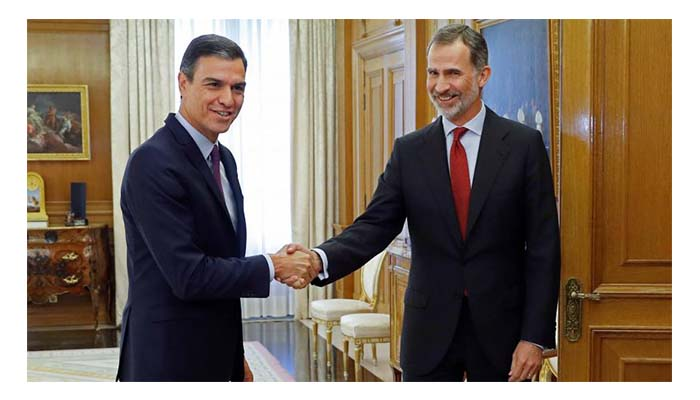 Rey de España propuso a Pedro Sánchez como candidato a la presidencia