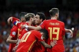España pisa fuerte en las eliminatorias de la Eurocopa 2020 tras golear 3-0 a Suecia