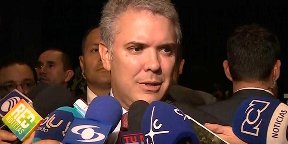 'Estoy a favor de que Colombia tenga cadena perpetua para asesinos y violadores de menores': Presidente Duque