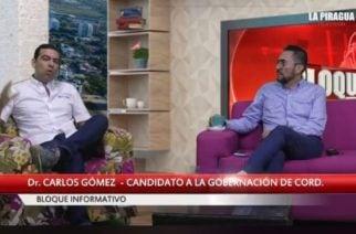 """""""Hoy estamos más maduros"""": Carlos Gómez sobre su segunda candidatura a la gobernación"""