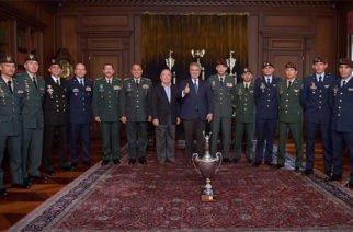 Presidente Duque recibió con honores a los colombianos ganadores de la competencia Fuerzas Comando 2019