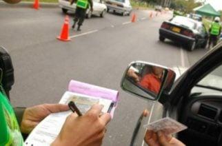 Sancionadas 2.465 personas por infracciones de tránsito durante puente festivo