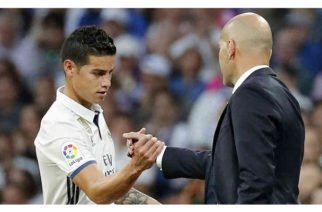"""""""Estoy contento de tenerle en la plantilla"""": Zidane sobre James Rodríguez"""