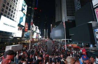 Minutos de pánico en Times Square: Multitud huye al confundir el sonido de una moto con un tiroteo