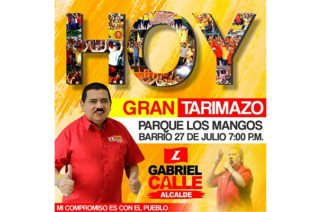 Candidato Gabriel Calle invita a su pueblo para el 'Gran Tarimazo' de este viernes