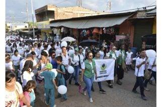Con marcha contra el abuso infantil en Puerto Libertador pidieron justicia por la pequeña Jaqueline