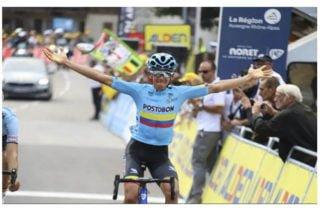 El orgullo sigue en alto: El colombiano Tejada ganó la séptima etapa del Tour de L'Avenir