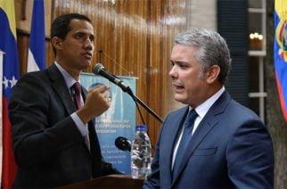 El presidente Iván Duque le pidió ayuda a Juan Guaidó para capturar a 'Márquez', 'Santrich' y 'El Paisa'
