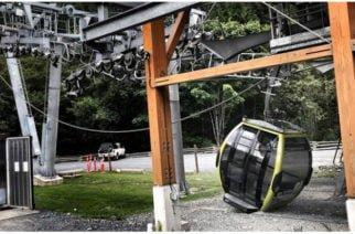 En Canadá se cayeron 30 cabinas de un teleférico en un presunto ataque