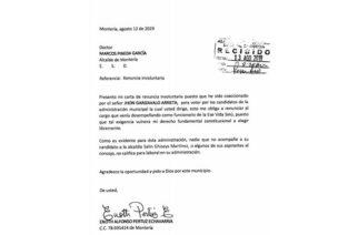 Funcionario de la Alcaldía renuncia al cargo tras haber sido presuntamente coaccionado para direccionar su voto