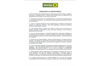 Partido Alianza Verde en Córdoba oficializa el apoyo a la campaña de Orlando Benítez