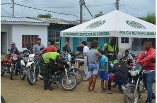 Policía realizó 'Marcatón' de motos en Montería para combatir el hurto