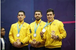 Una plata y un bronce para Colombia en el cierre histórico del squash