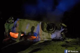 Tragedia en Caucasia: Dos jóvenes mueren quemados al chocar el carro donde viajaban
