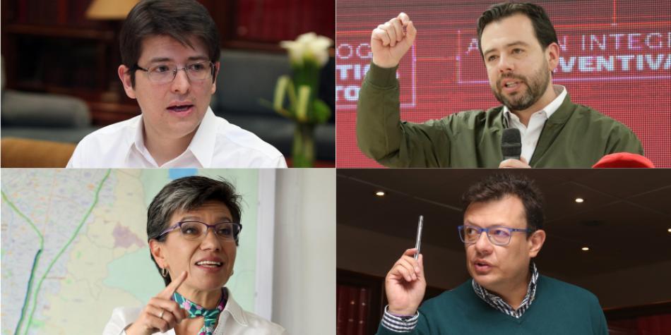 Encuesta en Bogotá refleja unos números cerrados para los aspirantes a la Alcaldía