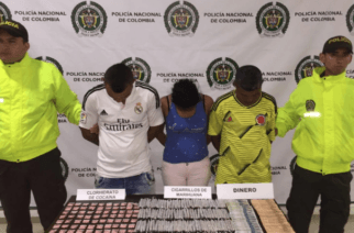 Dos hombres y una mujer capturados en Los Garzones  por tráfico de estupefacientes