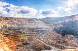 Spectacular view of an open-pit mine - HDR image