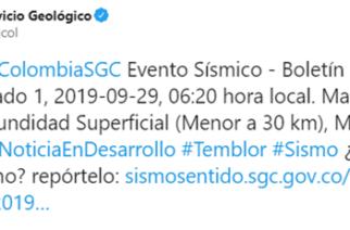 Sismo de 5.0 en el Caribe Colombiano
