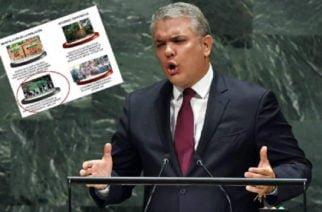 El presidente Iván Duque presentó una foto ante la ONU de una masacre que no es en Venezuela