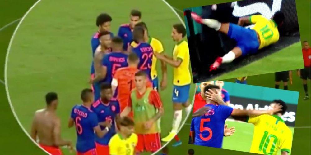 Colombia igualó 2-2 en el amistoso ante Brasil