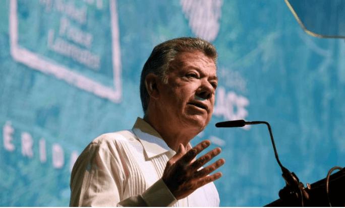 """Expresidente Santos: """"No desfalleceré en la búsqueda de la paz"""""""