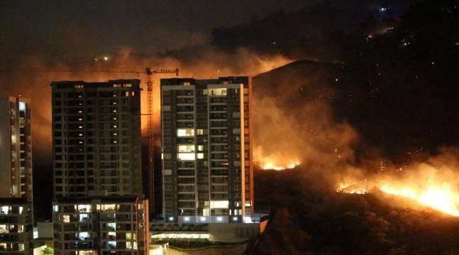 """Focos de incendios estremecieron los cerros de Cali: Alcaldía dice que """"hay manos criminales involucradas"""""""