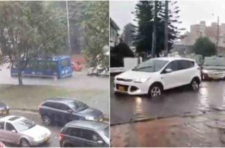 Fuerte aguacero causa caos en varios sectores de Bogotá