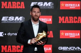 Un grande: Messi recibió la sexta Bota de Oro como máximo goleador en Europa