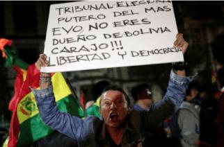 Tensión en Bolivia: 10,11% en diferencia de votos ratificaría a Evo Morales como presidente