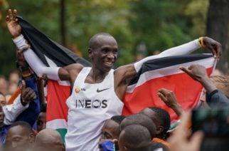 ¡Histórico! Keniano se convierte en la primera persona en correr 42 kilómetros en dos horas