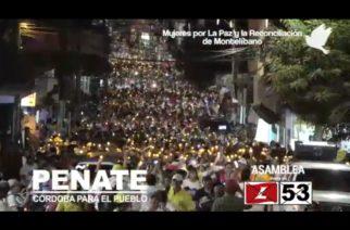 Mujeres de Montelíbano protagonizan Caminata por la Paz y la Reconciliación junto a José Peñate