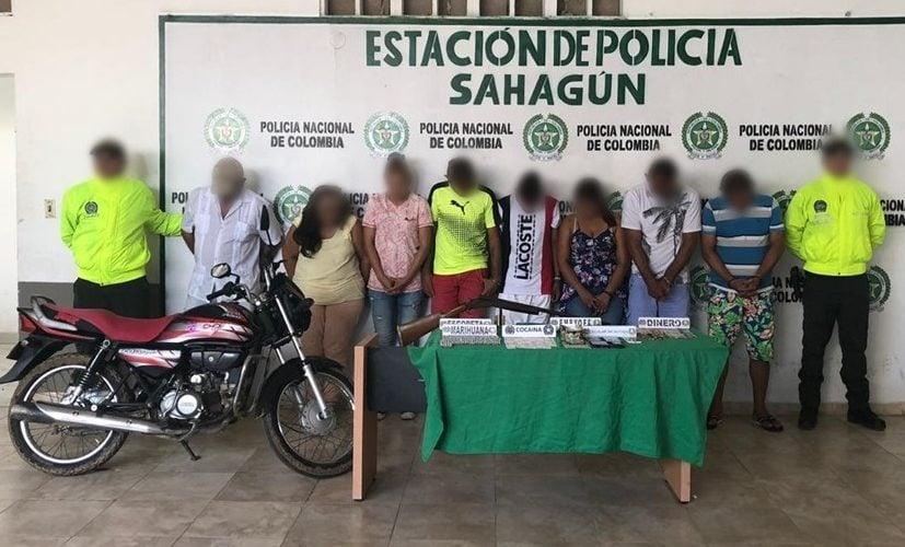 Policía desarticuló organización delincuencial 'Los Claros' en Sahagún