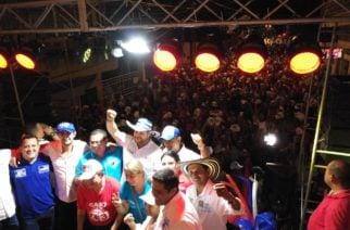 Exitoso recorrido tuvo Orlando Benítez por Planeta Rica
