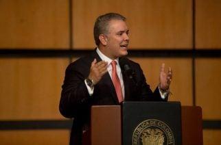 """""""La misma contundencia que tenemos y que estamos teniendo contra la corrupción y el terrorismo, la vamos a mantener para enfrentar el contrabando en este país"""", afirmó el Presidente Duque en Corferias, en Bogotá."""