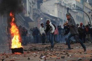 Impresionante video: Primer muerto durante protestas en Ecuador