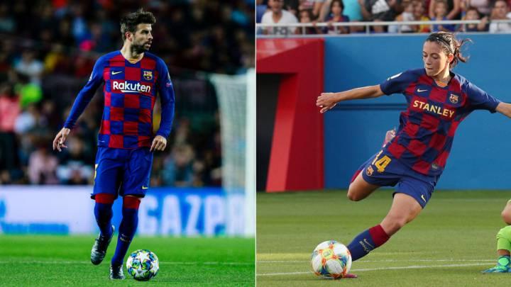 Gerard Piqué y Aitana Bonmatí los mejores jugadores catalanes