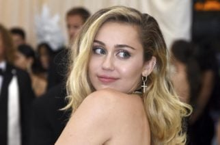 Miley Cyrus attends The Metropolitan Museum of Art s Costume Institute benefit gala celebrating the opening of the Heavenly Bodies  Fashion and the Catholic Imagination exhibition on Monday  May 7  2018  in New York   Photo by Evan Agostini Invision AP