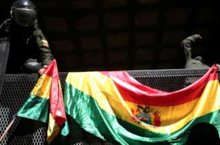 Última hora: Ahora se alzaron los policías que custodian el Palacio Presidencial de Bolivia